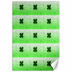 Shamrock Pattern Background Canvas 20  x 30