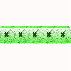 Shamrock Pattern Background Large Bar Mats