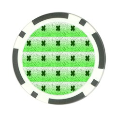 Shamrock Pattern Background Poker Chip Card Guard
