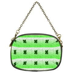 Shamrock Pattern Background Chain Purses (One Side)