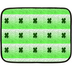 Shamrock Pattern Background Double Sided Fleece Blanket (Mini)