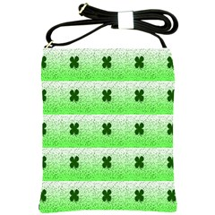 Shamrock Pattern Background Shoulder Sling Bags
