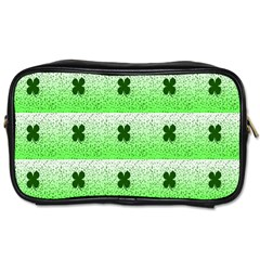 Shamrock Pattern Background Toiletries Bags