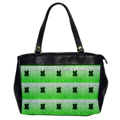 Shamrock Pattern Background Office Handbags