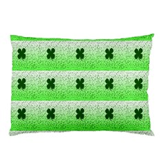 Shamrock Pattern Background Pillow Case (two Sides)