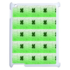 Shamrock Pattern Background Apple iPad 2 Case (White)
