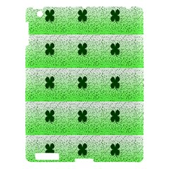 Shamrock Pattern Background Apple iPad 3/4 Hardshell Case
