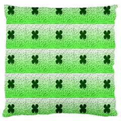 Shamrock Pattern Background Large Cushion Case (Two Sides)