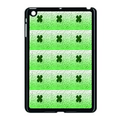 Shamrock Pattern Background Apple iPad Mini Case (Black)