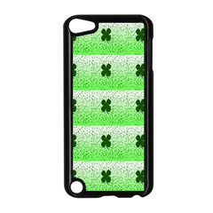 Shamrock Pattern Background Apple iPod Touch 5 Case (Black)