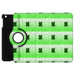 Shamrock Pattern Background Apple iPad Mini Flip 360 Case