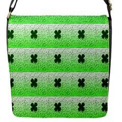 Shamrock Pattern Background Flap Messenger Bag (S)
