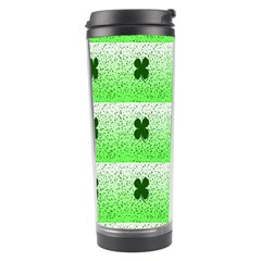Shamrock Pattern Background Travel Tumbler