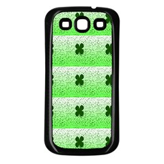 Shamrock Pattern Background Samsung Galaxy S3 Back Case (black)