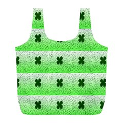 Shamrock Pattern Background Full Print Recycle Bags (L)