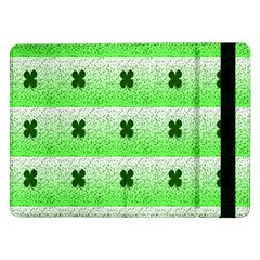 Shamrock Pattern Background Samsung Galaxy Tab Pro 12.2  Flip Case