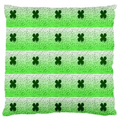 Shamrock Pattern Background Large Flano Cushion Case (One Side)