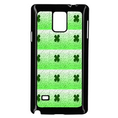 Shamrock Pattern Background Samsung Galaxy Note 4 Case (Black)