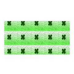 Shamrock Pattern Background Satin Wrap