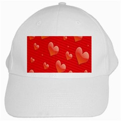 Red Hearts White Cap