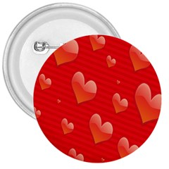Red Hearts 3  Buttons