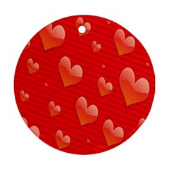 Red Hearts Ornament (Round)