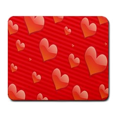Red Hearts Large Mousepads