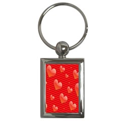 Red Hearts Key Chains (Rectangle)
