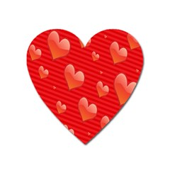 Red Hearts Heart Magnet