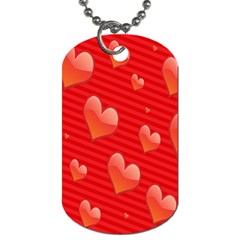 Red Hearts Dog Tag (One Side)