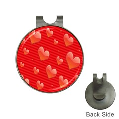 Red Hearts Hat Clips with Golf Markers
