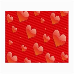 Red Hearts Small Glasses Cloth