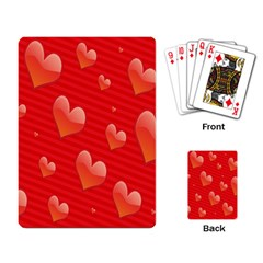 Red Hearts Playing Card
