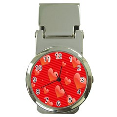 Red Hearts Money Clip Watches
