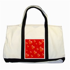 Red Hearts Two Tone Tote Bag