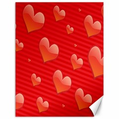 Red Hearts Canvas 12  x 16