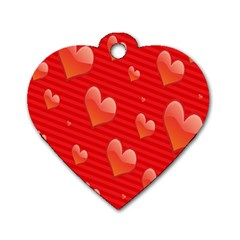 Red Hearts Dog Tag Heart (Two Sides)