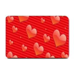 Red Hearts Small Doormat