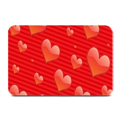 Red Hearts Plate Mats