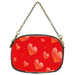Red Hearts Chain Purses (One Side)