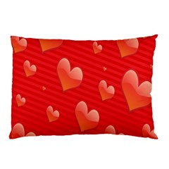 Red Hearts Pillow Case