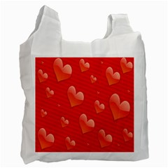 Red Hearts Recycle Bag (Two Side)