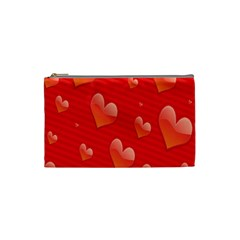 Red Hearts Cosmetic Bag (Small)