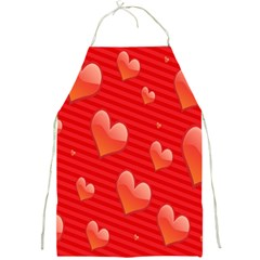 Red Hearts Full Print Aprons