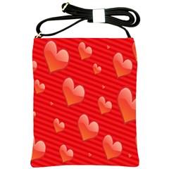 Red Hearts Shoulder Sling Bags