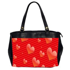 Red Hearts Office Handbags (2 Sides)
