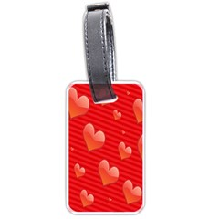 Red Hearts Luggage Tags (Two Sides)