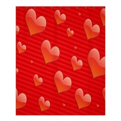 Red Hearts Shower Curtain 60  x 72  (Medium)