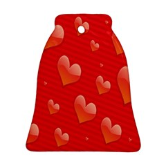 Red Hearts Ornament (Bell)