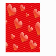 Red Hearts Large Garden Flag (two Sides)